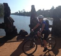 Riding through the Angkor Heritage Park