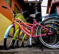 Bicycles on the back streets of Colombia