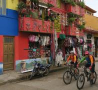Cycle touring colourful Colombia