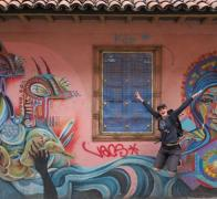 Exploring the awesome Bogota city graffit art