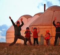 1Local kids and a crazy Escape Adventures tour leadrer in Kyrgyzstan2