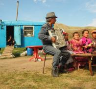 A bit of local music after a good days cycle touring in Kyrgyzstan2