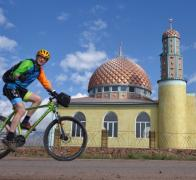 Cycle touring in Kyrgyzstan2. Everytown big or small has its spiritual centre