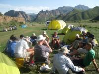 Camping out in the Kyrgyz Repulblic