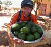 Fresh and in season avocados are a favourite meal and snack on our Madagascar cycle tours