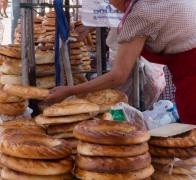 Freshly baked bread straight out of the oven is pretty hard to beat in Kyrgyzstan