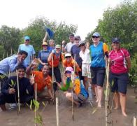 Heres to rolling up our sleeves planting trees or mangroves together