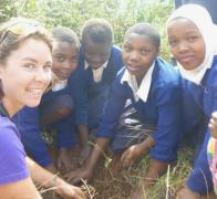 In Tanzania we work with Mkuzi School and the Friends of Usambara to plant trees in the Usambara Mountains