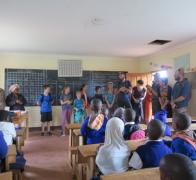Our school visits in Tanzania are a highlight of our Kenya Tanzania cycle tours