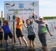 Hey We are stoked to be helping to replant mangroves in the Gulf of Thailand