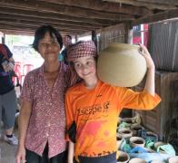 On our family bike trip in Cambodia we visited some local potters