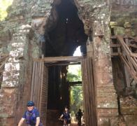 The Mansen Family cycle touring the Angkor Temples