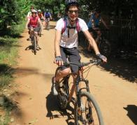 Cruising the busy streets of Cambodia