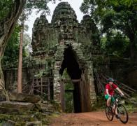 Cycling through the Angkor National Heritage site is always a real highlight