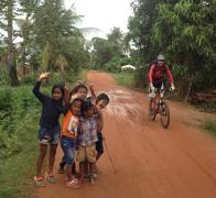 Sometimes riding your bike in Cambodia you feel like a celebrity