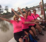 The pink ladies cycle tour Cambodia