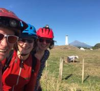 We made it Cape Egmont lighthouse with Mt Taranaki behind