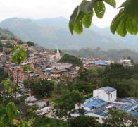 Gorgeous mountain side Colombian towns we bike through
