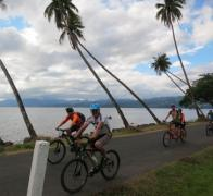 Biking the quiet back roads of Vanua Levu in Fiji