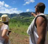 Checking out the beautiful Fijian landscape
