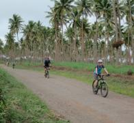Cruising the coconuts on a bike in Fiji
