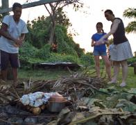 A Fijian lomo feast in the making