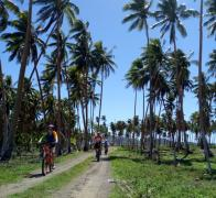 Biking down the coconut highway in Fiji