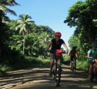 Biking the quite country roads of Taveuni Island