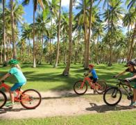 Cycle touring in Fiji amongst the coconuts