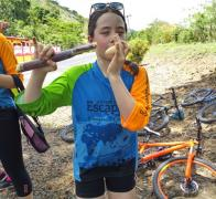 Sugar cane. banana. sugar cane. banana Biking in Fiji sure builds a mean appetite