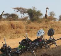 Entertainment provided on our riding break in Kenya