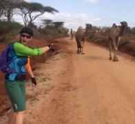 You never know who you might meet when biking the rural back roads of Kenya