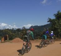 Cycling through the Tanzania mountains