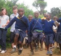 The kids at Mkuzi School are excited to see us too