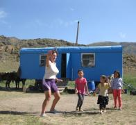 Getting dance lessons from our Kyrgyz hosts2