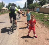 High five with the local kids in Kyrgyzstan2