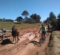 Cycle touring in Madagascar at rush hour