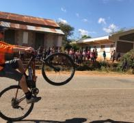 Leif was wheelie popular with the kids in Madagascar