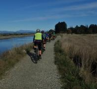 We meander our way out of Nelson on the Great Taste Trail